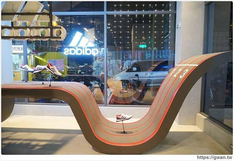 台中景點推薦必遊-Adidas 綠園道門市